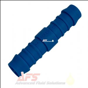 "19mm (3/4"") Straight Hose Joiner Tefen Equal Nylon Blue Connector Fitting"
